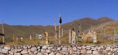 Кладбище в селении Сары Таш, Ошская область