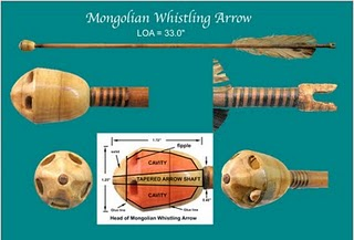 Mongolian whistling arrow