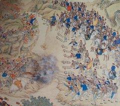 Битва при оз. Яшилькуль, уйгурские ополчения и цинские войска (1759г).