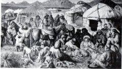 Казахский аул в степи. XIX в.