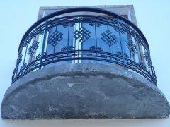 Современное ограждение балкона в п. Серебрянка, респ. Тыва.
