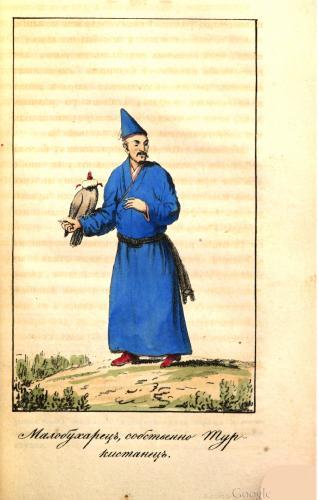 Уйгур (тюрок Кашгарии) с  соколами