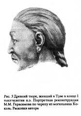 Реконструция облика древнего тюрка из Тувы