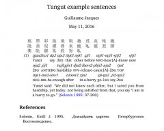 Тангутские слова.