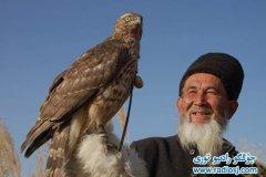 Охотник уйгур с соколом