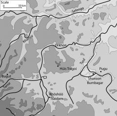Хүйс толгой - место где обнаружен древне-монгольский текст на камне