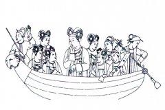 Представительницы тюркской знати Самарканда, 7 век.