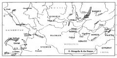 """Карта из """"Джами ат-Таварих"""" в переводе Тэкстона"""