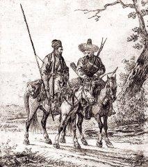 А. О. Орловский. Два башкира. Рисунок. 1814 г.