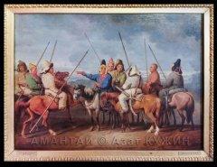 Иоганн Генрих Вильгельм Тишбейн. Башкиры на лошадях. 13 апреля 1814 г.