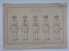 Форма Башкирского войска.  Рисунок середины XIX века.
